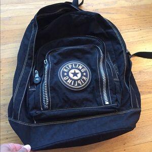 Black Kipling Backpack, big logo no stains!